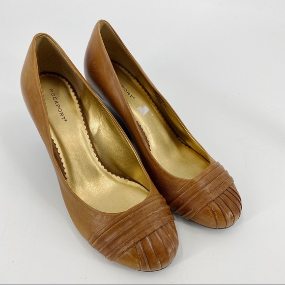 Rockport brown wedge leather shoes